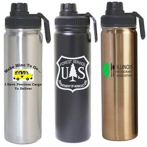 24 Oz. Stainless Steel Vacuum Insulated Bottle with twist lid/spout