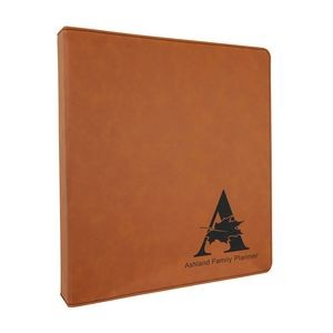 "10 1/2"" x 11 1/2"" Rawhide Leatherette 3 Ring Binder"